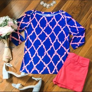 Lilly Pulitzer 3/4 length T-shirt